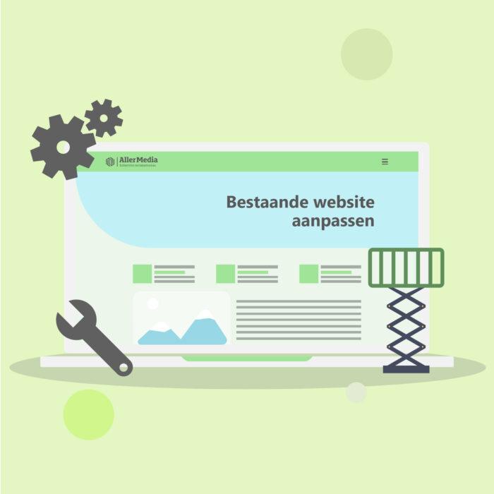 Bestaande website aanpassen