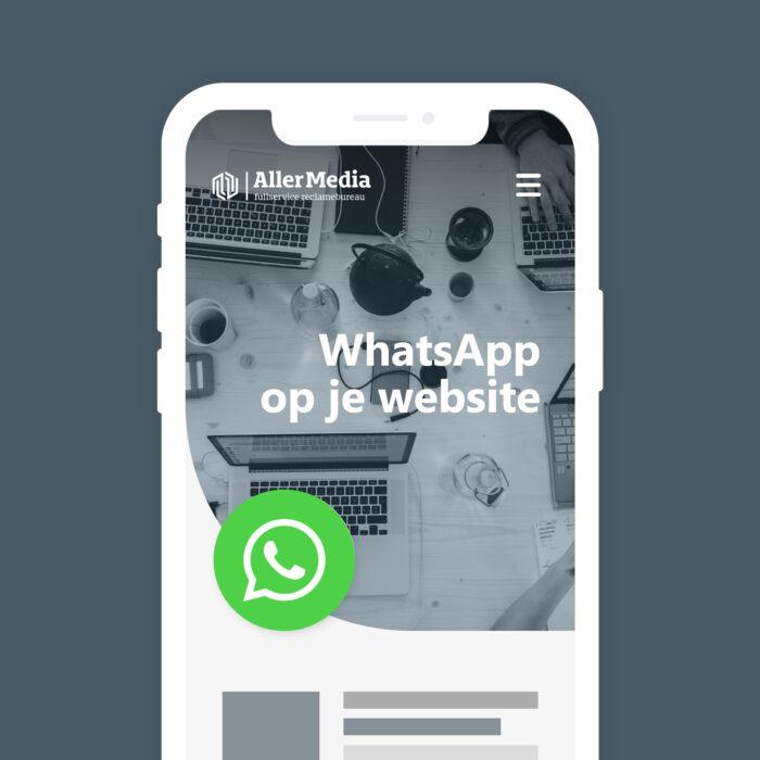 WhatsApp button op je website